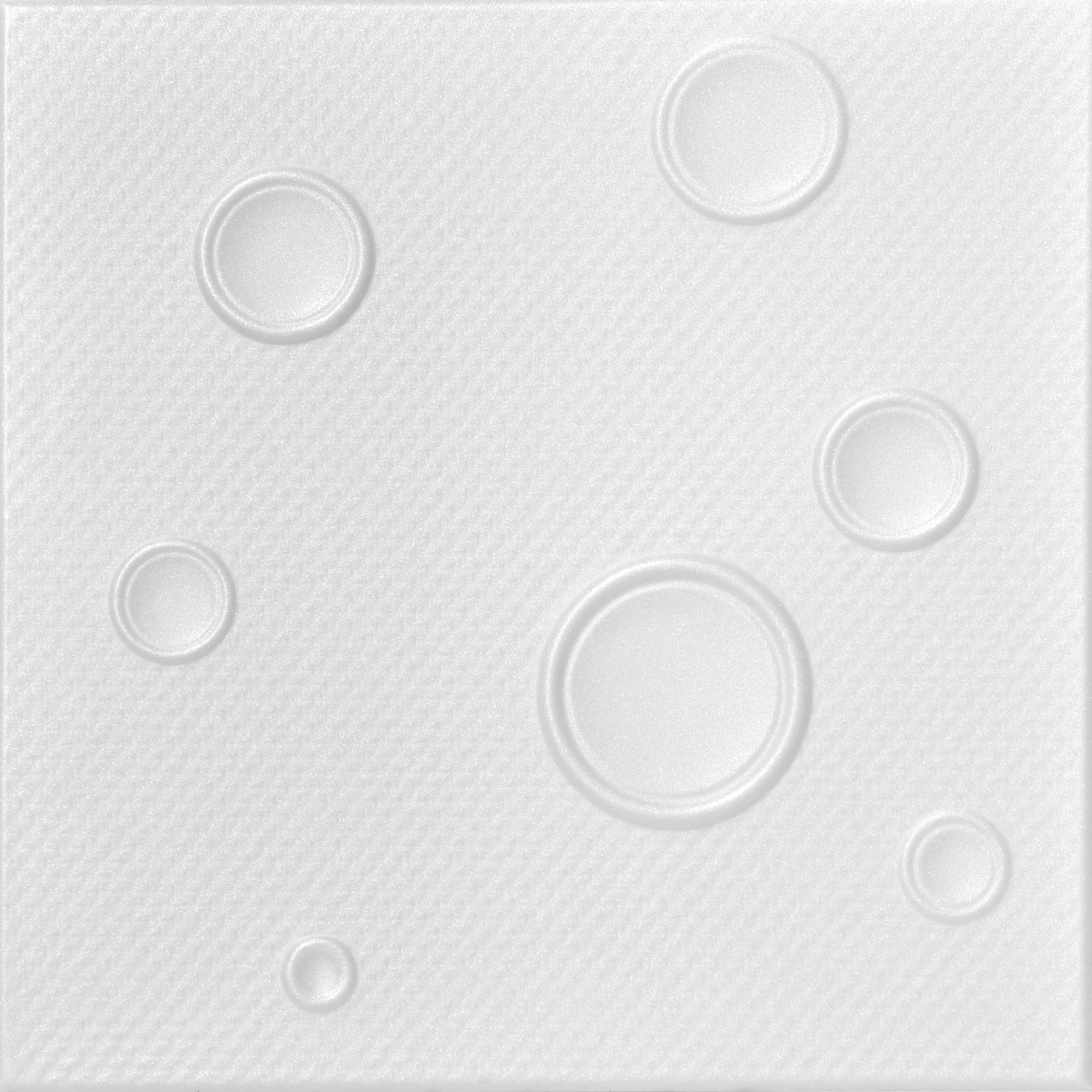Bruno 1.6 ft. x 1.6 ft. Foam Glue-up Ceiling Tile in Plain White (21.6 sq. ft./Case)