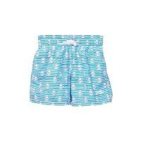 Azul Baby Boys Blue Sails Stripes Print Drawstring Swim Shorts