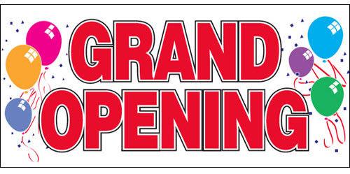 NOW OPEN 2/'x4/' VINYL RETAIL BANNER SIGN