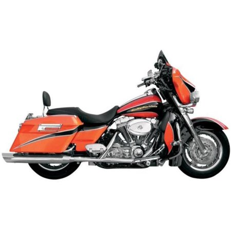 Bassani Manufacturing FLH-523L 4in. Slip-On Mufflers with 2 1/2in. Performance Baffles - Slant Down - - Mufflers Performance Baffles