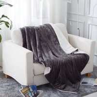 Deals on Sherpa Throw Blanket for Couch 50x60-inch