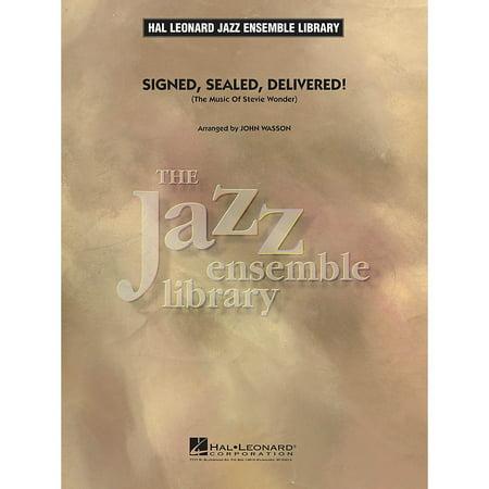 Hal Leonard Signed, Sealed, Delivered! Jazz Band Level 4 by Stevie Wonder Arranged by John - Signed Four