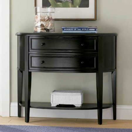 Powell Antique Black Through Terra Cotta Demilune Console Table ...