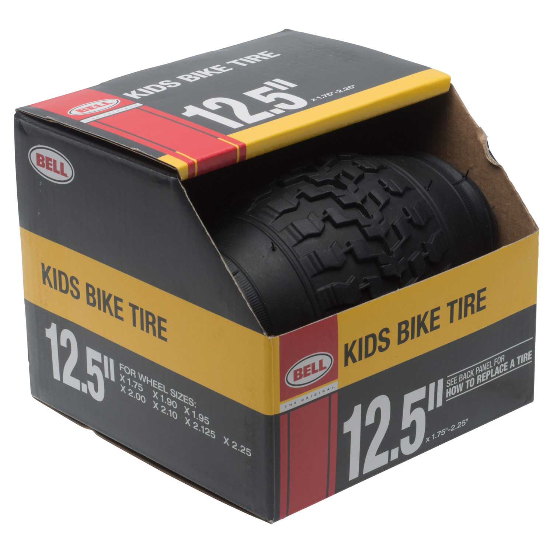 "Bell Standard Kids Bike Tire, 12.5"" x 1.75-2.25"", Black"