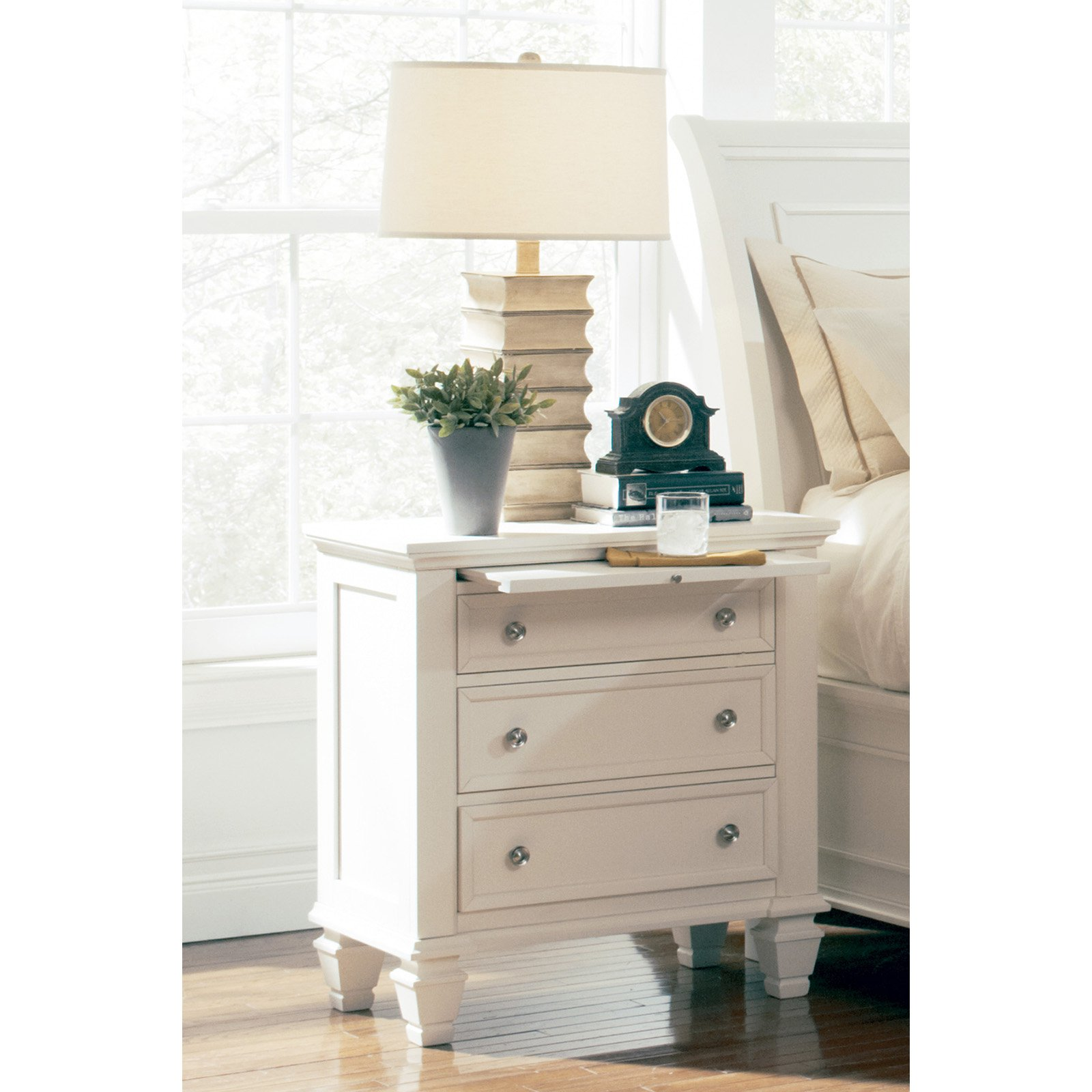 Coaster Company Sandy Beach 3 Drawer Nightstand, White