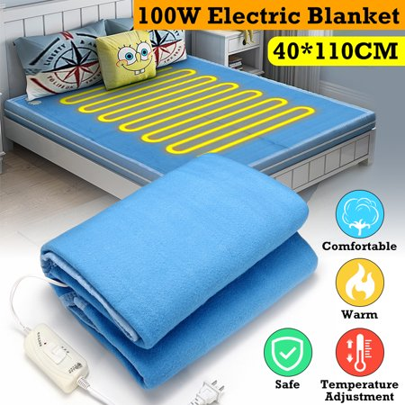 100W 220V Electric Heating Blanket Warm Heater Warming Flannel Winter Warm Heater Heated Pad W/ Controller Waterproof Heating Bed Leakage Protection Comfort Soft Fleece