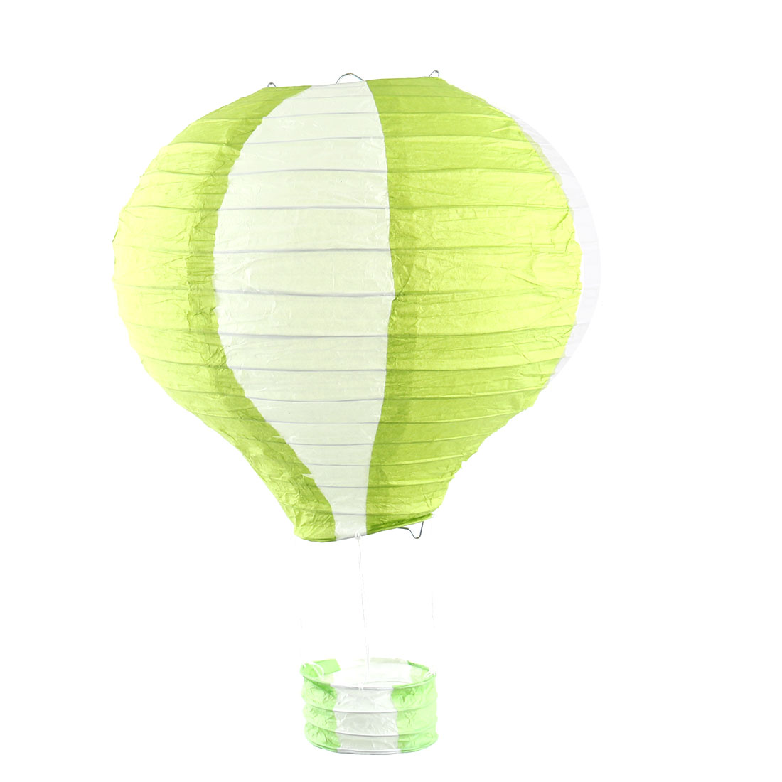 Festival Party Paper DIY Handmade Lightless Hot Air Balloon Lantern Green White - image 6 of 6
