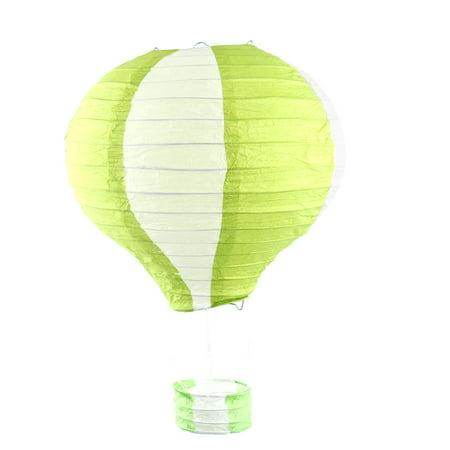 Festival Party Paper DIY Handmade Lightless Hot Air Balloon Lantern Green White