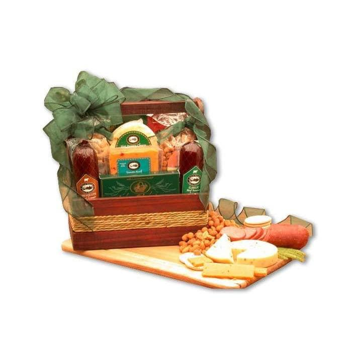 Gift Basket Drop Shipping Manly Mans Sausage and Nut Tote