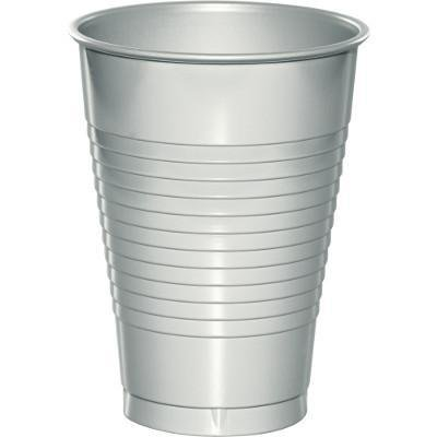 Creative Converting Shimmering Silver 12 Oz Plastic Cups, 20 ct - 12 Oz To Cup