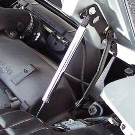 C5 Corvette Hood Support Strut Chrome Sleeve Covers Left + Right Sides Fits: All 97 through 04 (Corvette Hood Support)