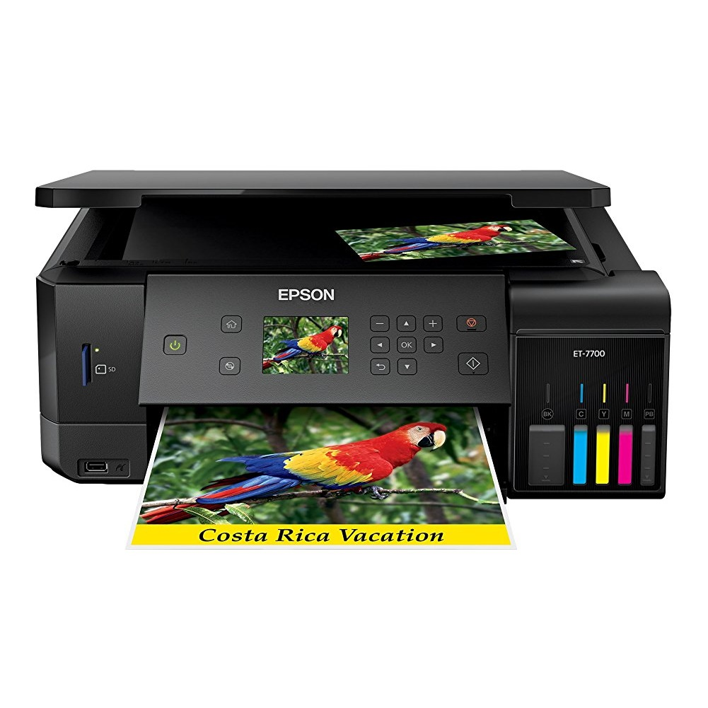Epson Expression Premium ET-7700 EcoTank Wireless 5-Color All-in-One Supertank Printer with Scanner, Copier... by Epson