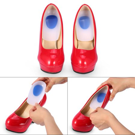 Ejoyous 1 Pair Silicon Gel Heel Cup Cushion Plantillas Fascitis Plantar Pain Relief Insoles Pad 2 Sizes Silicone Heel Cup Heel Pads