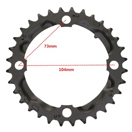 32T Carbon Steel MTB Mountain Bike Cycling Crankset Protect Cover Support Cap Bicycle Chainring Crank Set Chain Wheel Guard For   9 Speed CrankSet - image 2 of 5
