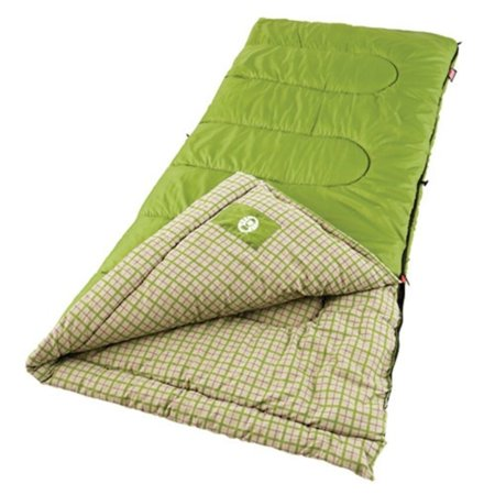 Coleman Green Valley 75x33 Inch Rectangle Sleeping Bag (Coleman Green Valley Cool Weather Sleeping Bag)