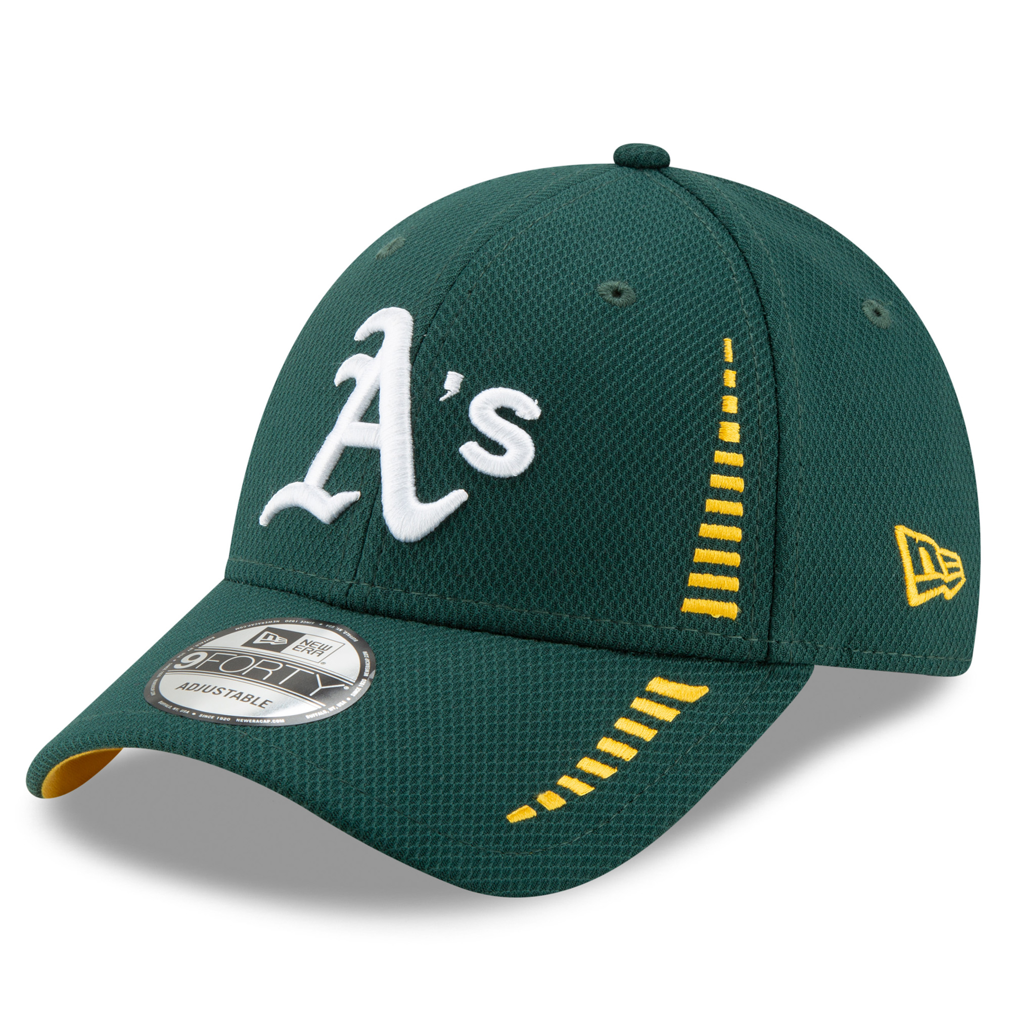 Oakland Athletics New Era Speed Tech 9FORTY Adjustable Hat - Green - OSFA