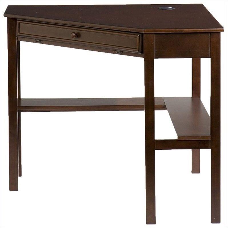 "Southern Enterprises Corner Computer Desk 48"" Wide, Espresso Finish - image 5 de 8"