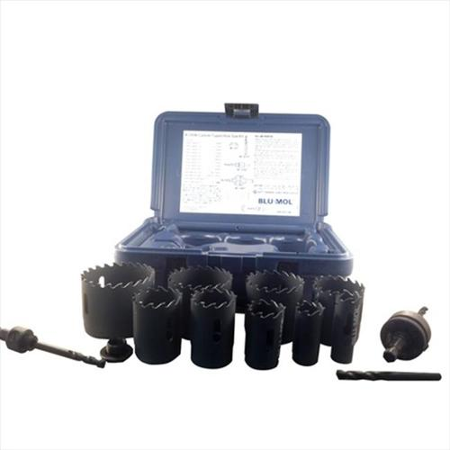 Disston C9596 Blu-Mol Xtreme Carbide Tipped Hole Saw Kit, 13 Pieces