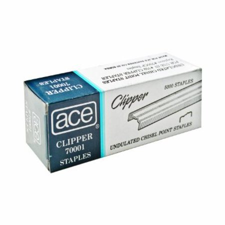 - ACE Undulated Clipper Staples for 07020, Box of 5,000 Staples (ACE70001)