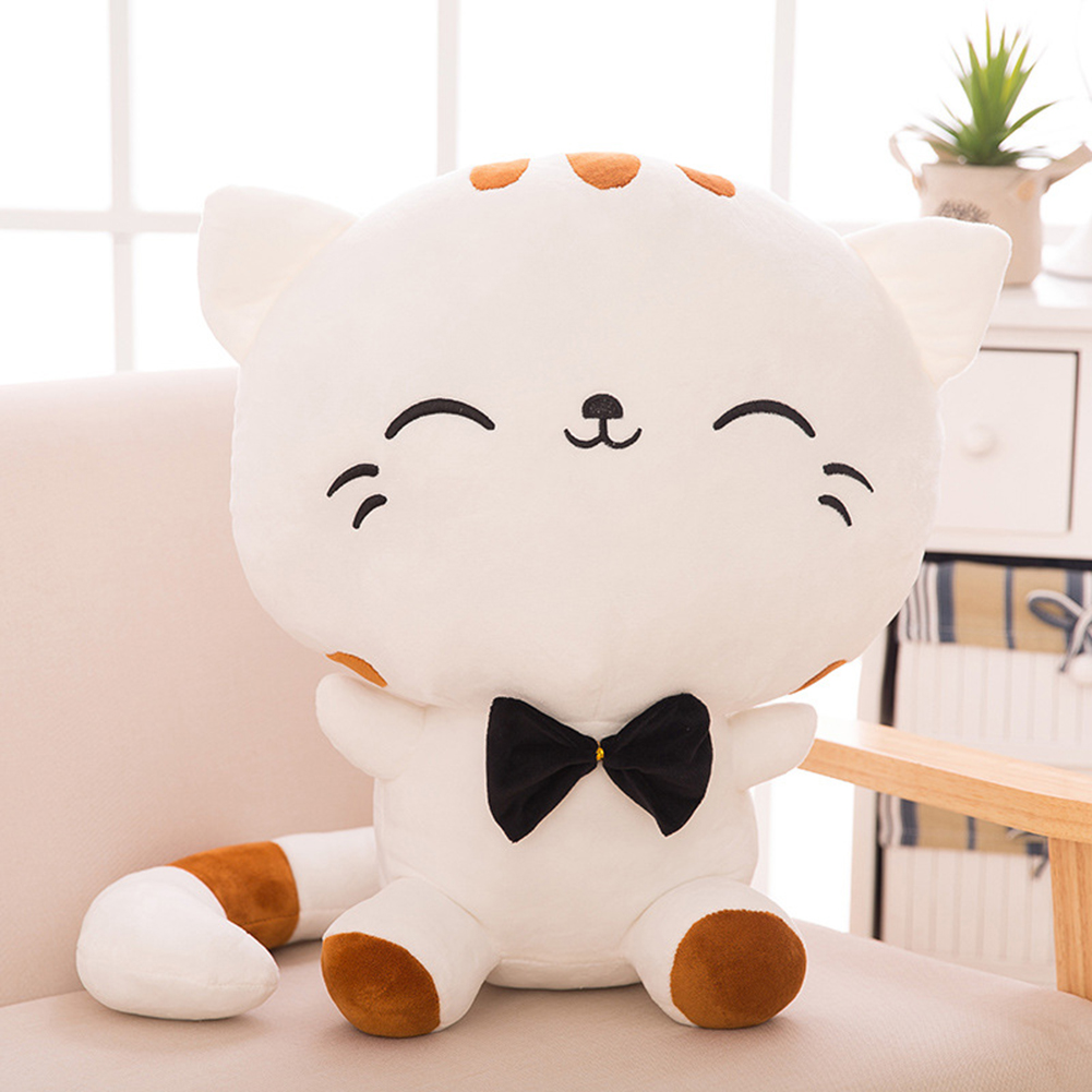 Cute Cartoon Cat Plush Stuffed Toy Big Tail Fat Face Cat Doll Lovely