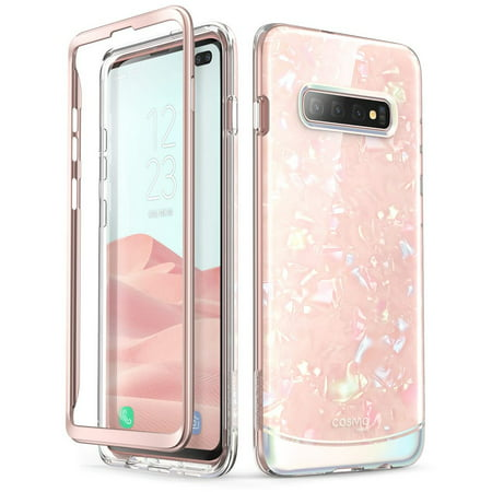 i-Blason Cosmo Series Designed for Galaxy S10 Plus Case Stylish Protective Bumper Case Without Built-in Screen Protector for Samsung Galaxy S10 Plus 2019 Release (Samsung Pink Faceplates)