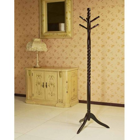 Home Craft Wooden Coat/Hat Rack Stand, Multiple Colors - Oak Office Coat Rack