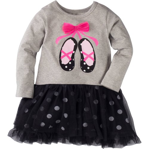 Gerber Graduates Baby Toddler Girl Tulle Dress with Bow