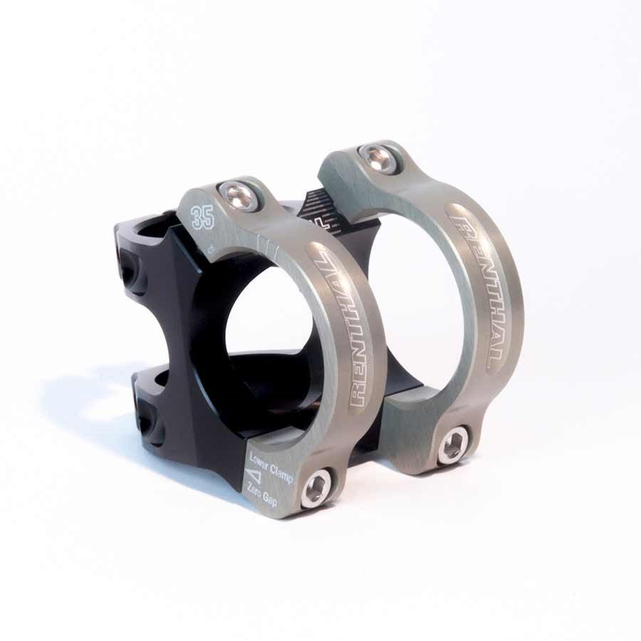 Renthal Apex 35 Bicycle Stem - Clamp: 35mm , L: 33mm, Steerer: 28.6mm, 6, Black/Gold - STM117-BKAG