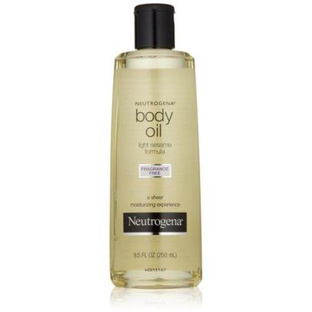 neutrogena body oil light sesame formula fragrance free 8 5 oz pack. Black Bedroom Furniture Sets. Home Design Ideas