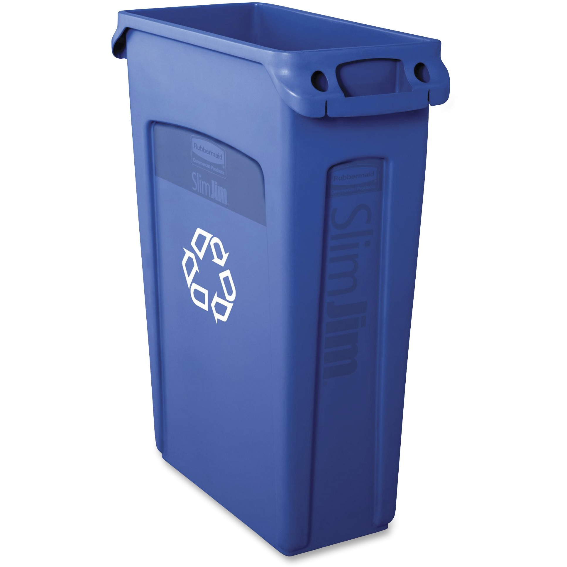 Rubbermaid Commercial, RCP354007BE, Venting Slim Jim Container, 1, Blue