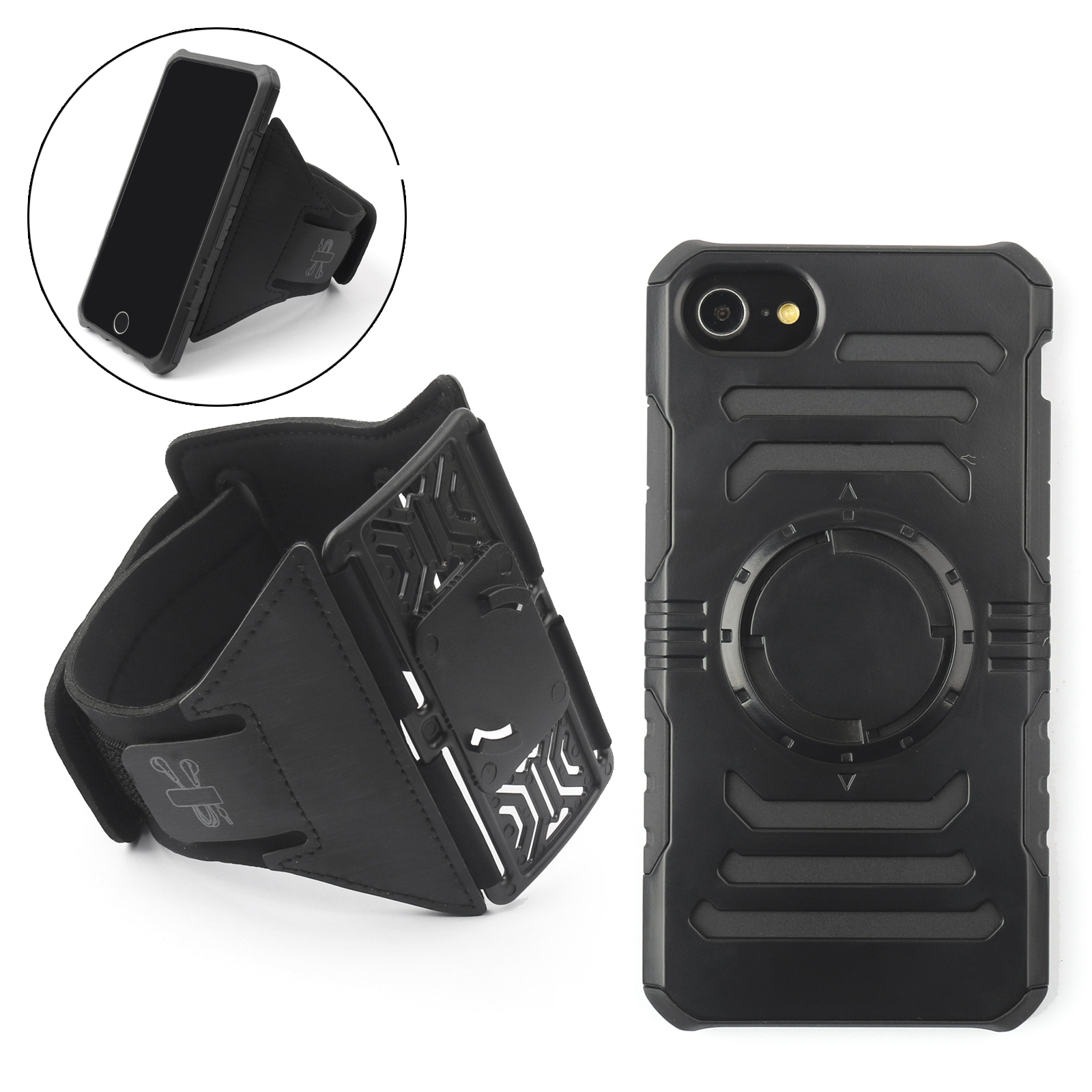 Areyourshop Armband Arm Band Sports Running Shockproof Magnetic Case For Iphone 6 6S 7 8 Black