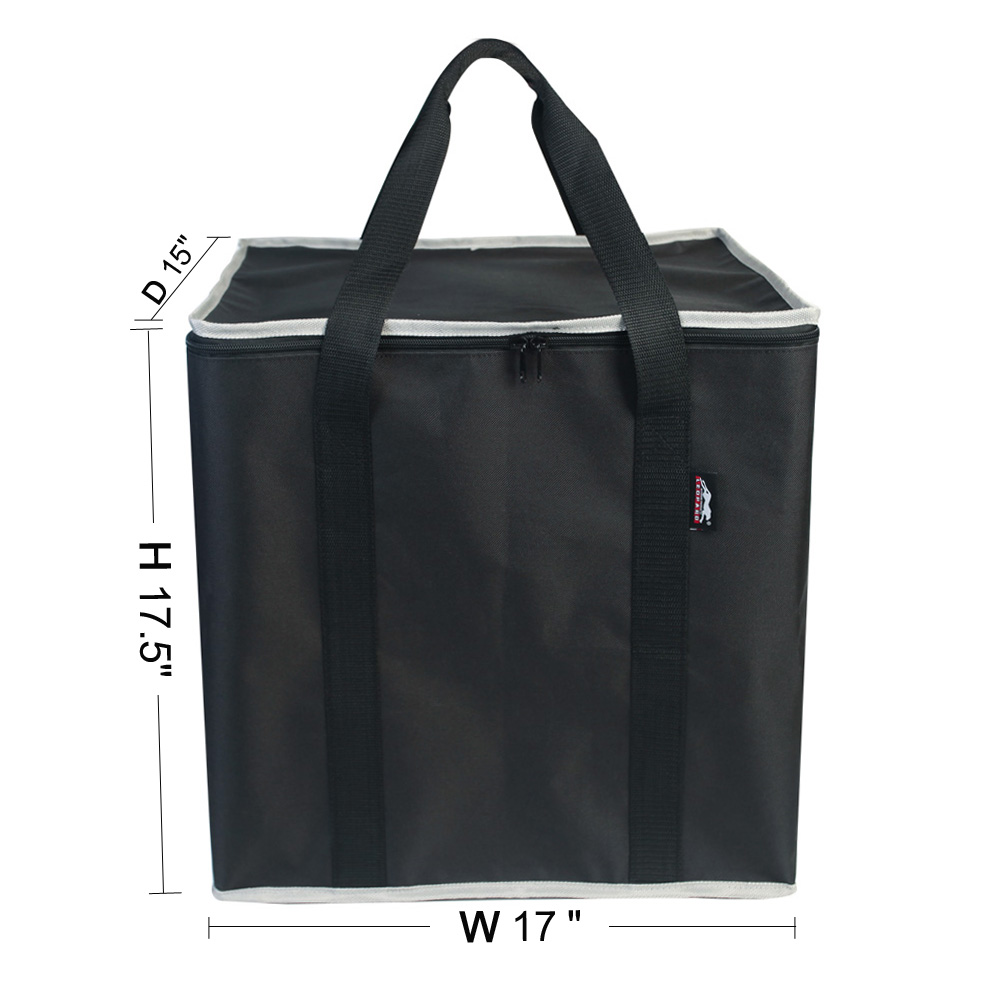 Waterproof Portable Toilet Storage Bag With Handles Washable Black
