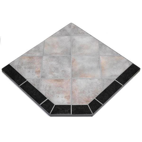 "Night Shadows Tile Single Cut Corner Stove Board, 48"" x 48"""