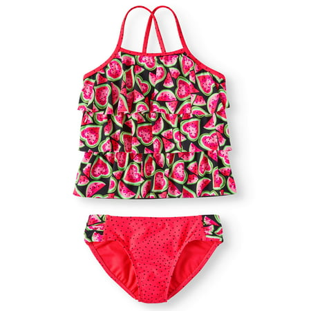 Melon Love Tiered Tankini Swimsuit (Little Girls, Big Girls & Big Girls Plus) - Swimwear Girls
