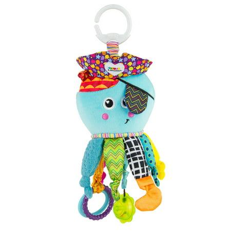 Lamaze Clip & Go Captain Calamari Infant Toy, Baby Car Seat Toy, Plush Stroller Toy (Lamaze Take Along Toy)