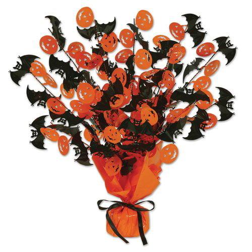 The Holiday Aisle Bat & Pumpkin Gleam 'N Burst Centerpiece