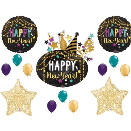 Festive Happy New Year Year's Eve 2019 Party Balloons Decoration Supplies](Happy New Year Party)