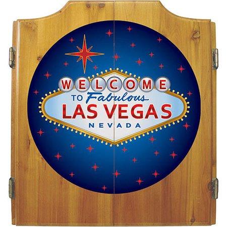 Las Vegas Dart Cabinet includes Darts and Board