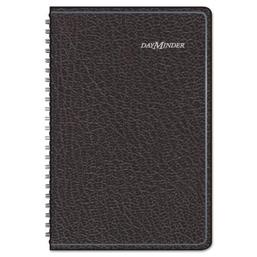 DayMinder Block Format Weekly Appointment Book, 4 7/8 x 8, Black, 2017