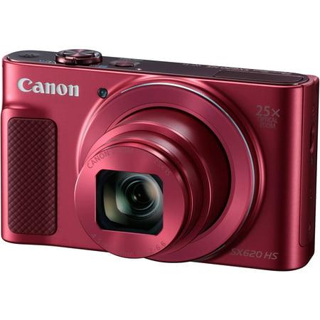 Digital Cameras Hot Shoe - Canon PowerShot SX620 HS Digital Camera (Red)