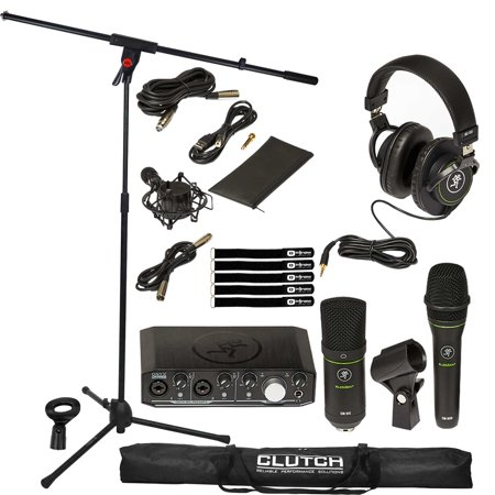 Mackie Producer Bundle Recording Bundle featuring Onyx Producer Interface with Microphone Boom Stand Package Mackie Onyx Recording