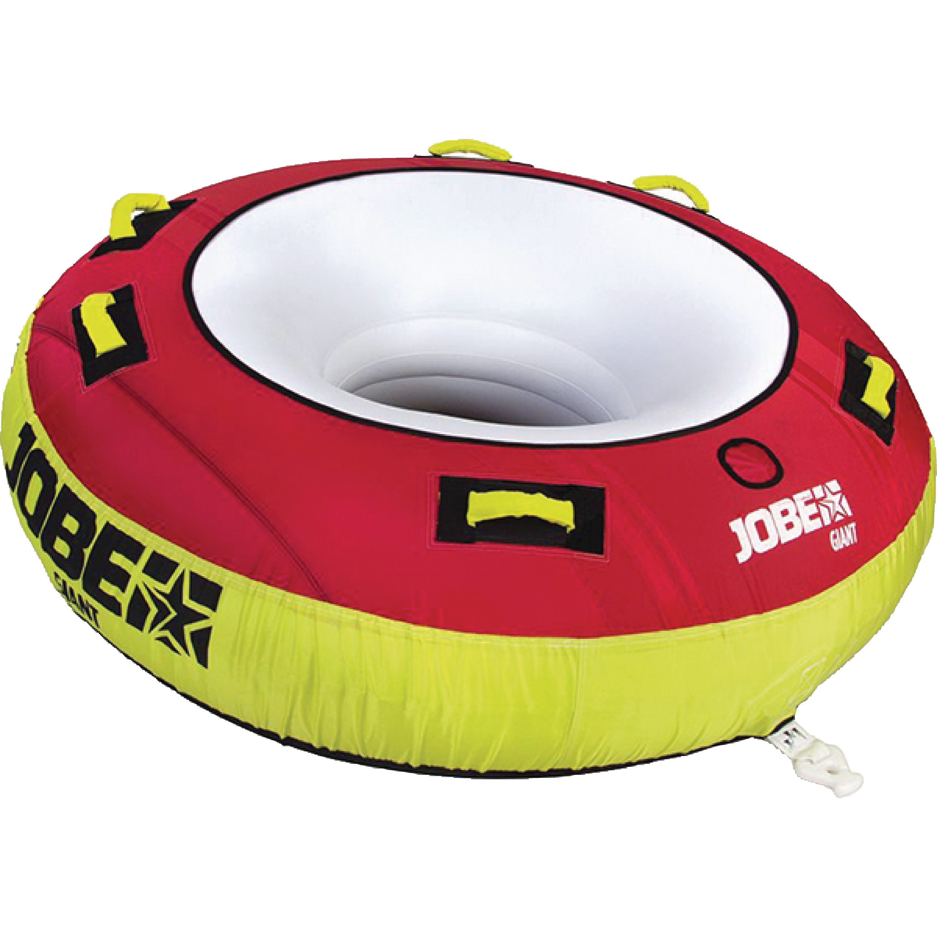 Jobe 230317001 Giant Red & Yellow 3-Person Rider Towable