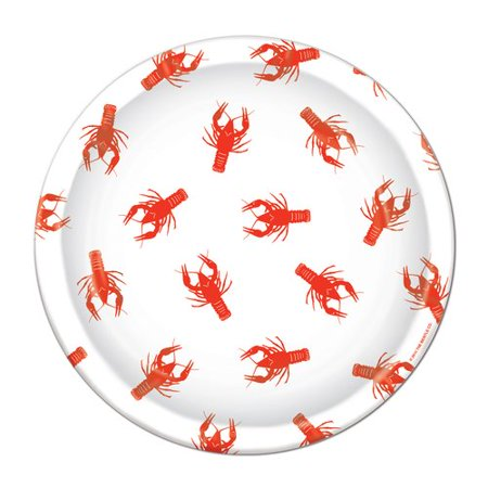 The Beistle Company Crawfish Paper Plate - Crawfish Boil Party Supplies