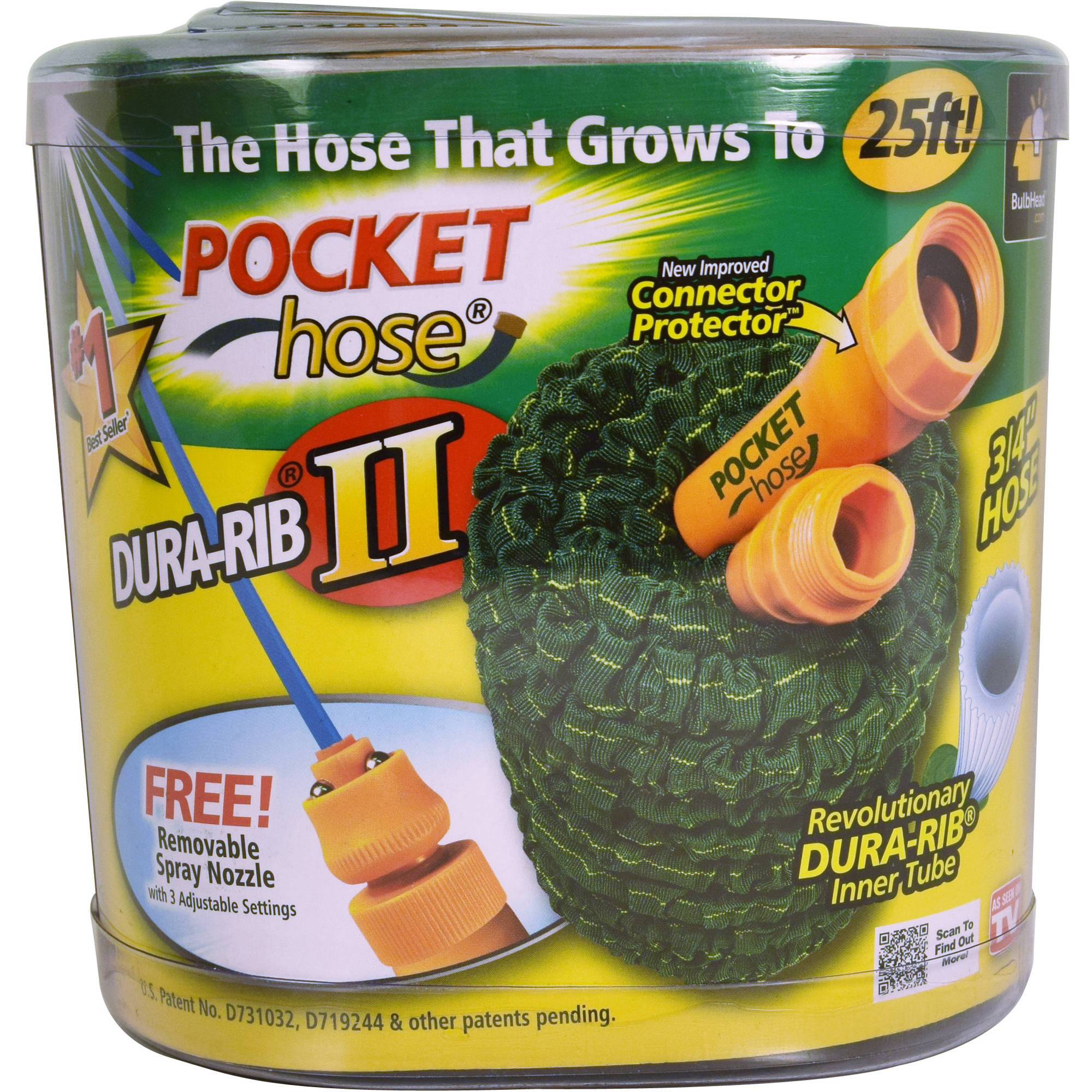 As Seen On TV Pocket Hose Ultra, 25'