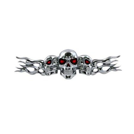 Bull Skull Emblem (3 Headed Skull ABS Plastic)