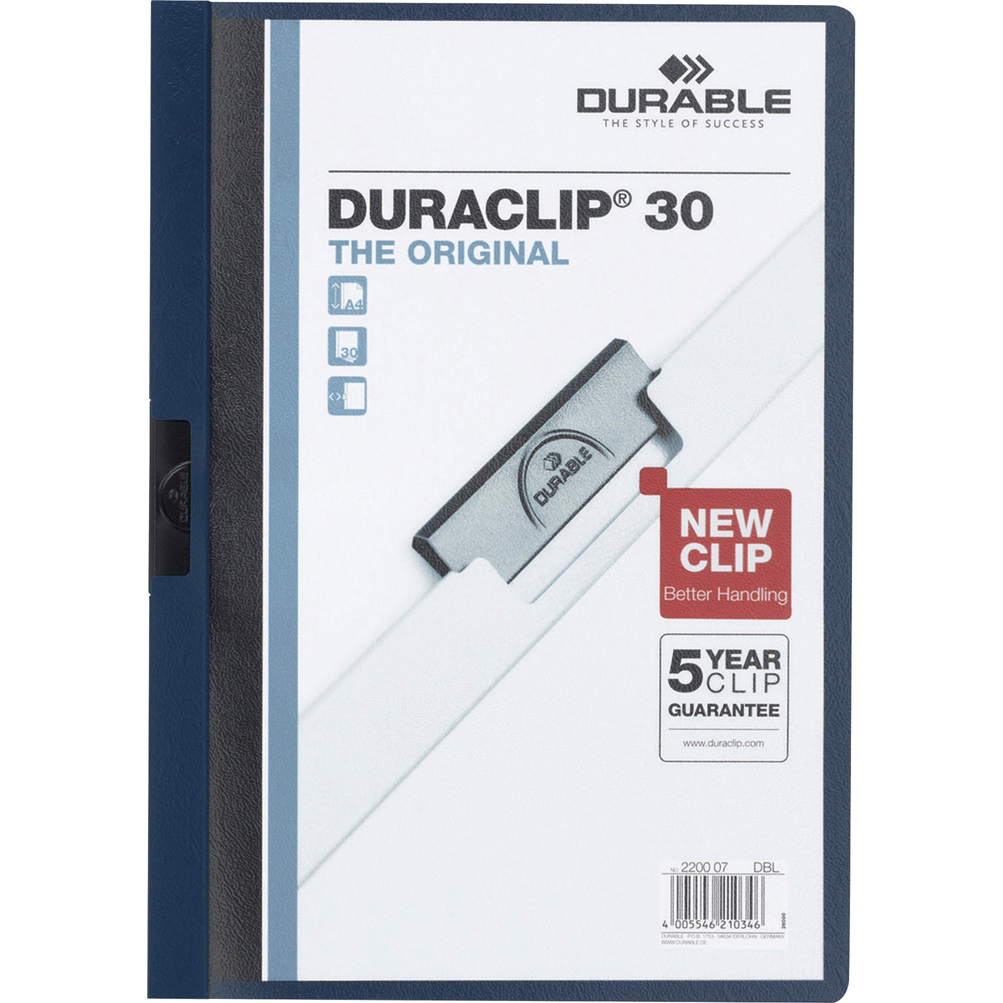 DURABLE, DBL220301, Duraclip Report Covers, 1 Each, Black by DURABLE OFFICE PRODUCTS CORP.