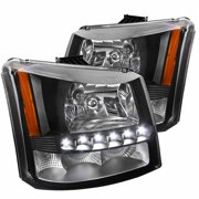 Spec-D Tuning 2003-2007 Chevy Silverado Smd Led Headlights Bumper Lamps 2003 2004 2005 2006 2007 (Left + Right)