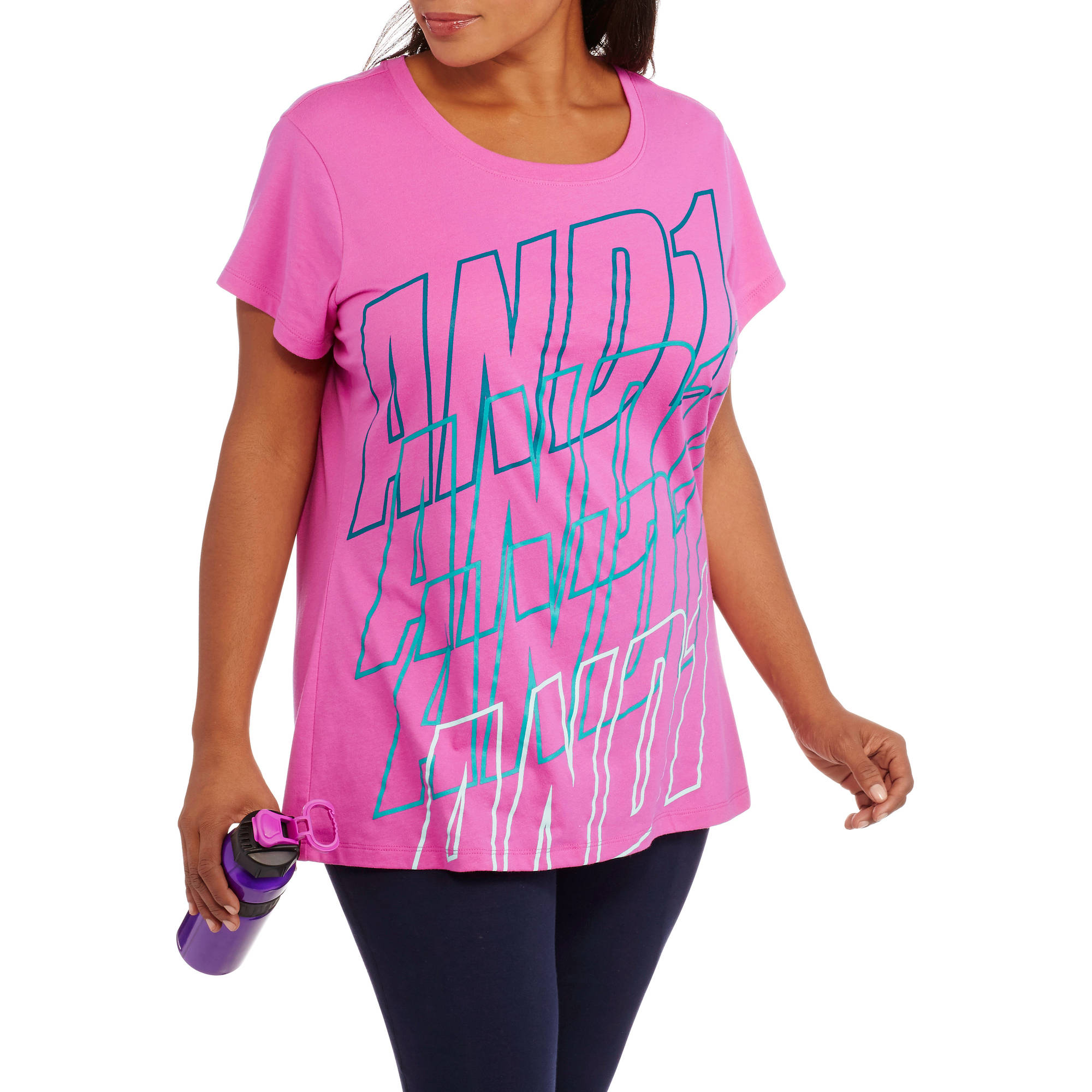 AND1 Women's Plus-Size And1 Stack Crew