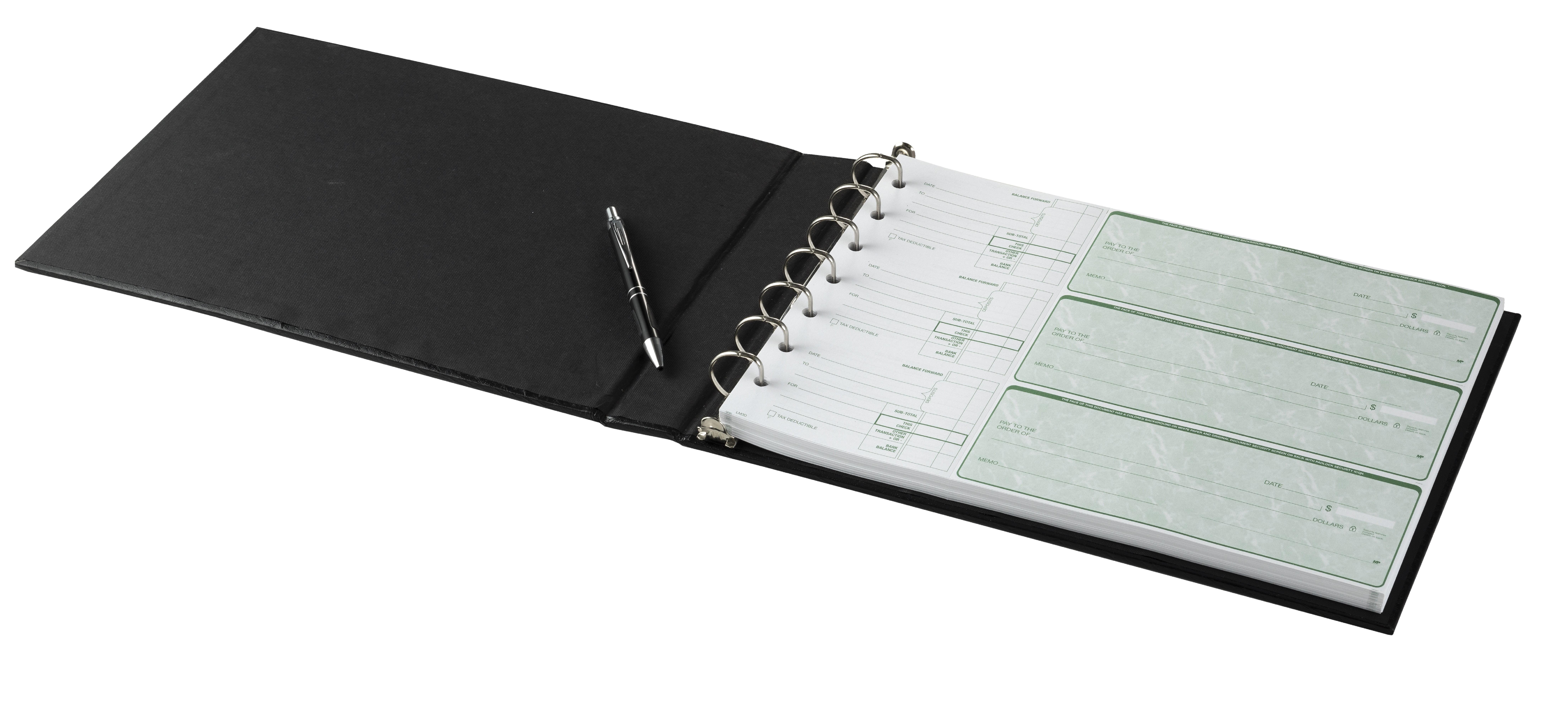 Executive 7 Ring Check Binder For 9x13 Inch Sheets Sleek Design 11703