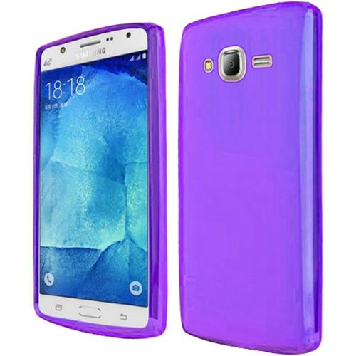 Insten Frosted Gel Cover Case For Samsung Galaxy J7 (2015) - Purple - Walmart.com